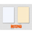 Realistic Notepad Set vector image vector image