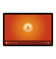 red video player vector image