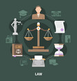 scale of justice round composition vector image vector image