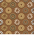 Seamless Pattern Different Style Chocolate Donuts vector image vector image
