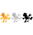 set of tiger character vector image