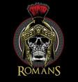 skull of roman warrior vector image vector image