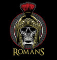 skull roman warrior vector image vector image