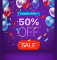 special offer concept 50 percent off vector image