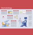 successful dentistry examination doctor slide vector image vector image