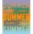 summer graphic tee design vector image vector image