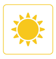 Sun icon Light sign with sunbeams yellow design vector image vector image