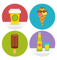 sweets icons in flat design vector image