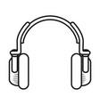 technology earpod cartoon vector image