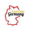 travel to germany contour map germany vector image vector image
