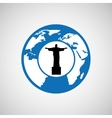 Traveling world brazil monument design graphic