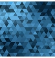 triangle blue vector image vector image