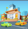 urban landscape with various buildings and facade vector image vector image