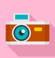 vintage photo camera icon flat style vector image