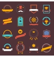 Vintage retro flat badges labels signs symbols vector image vector image