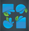 water frames vector image vector image
