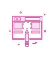 web layout icon design vector image vector image