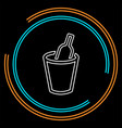 wine bucket drink alcohol vector image