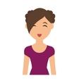 Woman cartoon icon Person design graphic vector image vector image