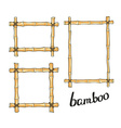 Yellow bamboo frames vector image