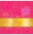 Pink ornamental card vector image