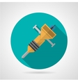 Flat color jackhammer icon vector image