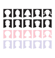 10 anonymous avatars vector image vector image