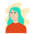 a portrait a woman in flat style design vector image