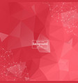 abstract low poly red technology background vector image vector image