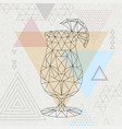 abstract polygonal tirangle cocktail tequila vector image vector image