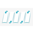 arrows and papers with shadow collection vector image vector image