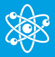 atom with electrons icon white vector image vector image