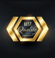 best quality golden label badge design vector image vector image