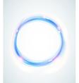 Blue abstract shining circle vector image vector image