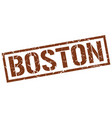 boston brown square stamp vector image vector image