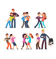bullying kids stop school bully aggressive vector image vector image