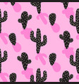 cactus plant pink seamless pattern vector image vector image