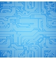 Circuit board seamless blue pattern vector image vector image