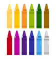 Colorful crayons set isolated on white vector image