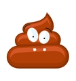 Confused poo isolated white vector image