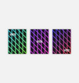 cool covers set fluid iridescent gradient glam vector image