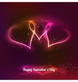 Dark background with glowing heart for my vector image vector image