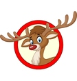 Deer cartoon vector image vector image