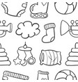 doodle baset collection stock vector image vector image