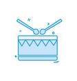 drum icon design vector image