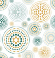 fabric circles abstract seamless pattern vector image
