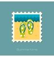 Flip Flops flat flat stamp vector image