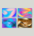 fluid shapes wavy liquid background bright neon vector image vector image