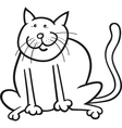 funny sitting cat vector image