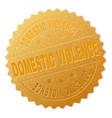 golden domestic violence badge stamp vector image vector image